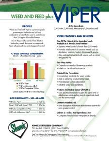 Viper Weed and Feed Plus